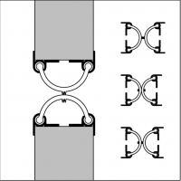 Уплотнитель для маятниковых дверей Ellen 75х250мм - фото #2