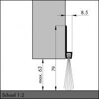 Пороговый щёточный уплотнитель IBS 80 100мм