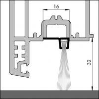 Пороговый щёточный уплотнитель IBS 90-32 100мм - фото