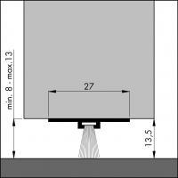 Пороговый щёточный уплотнитель DBS 1000 мм - фото